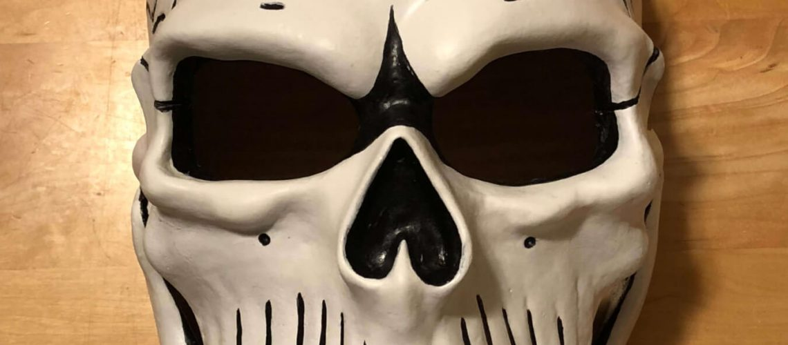 Finished and painted Spectre Mask